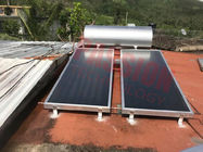 Pressured Household Flat Plate Solar Water Heater Blue Titanium Coating Flat Collector