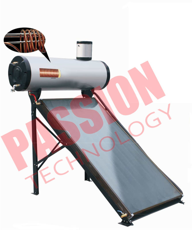 200L Integrated Pressure Copper Coil Pre Heated Solar Water heater Color Steel Type For Home