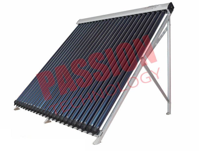 Silver Color Pressurized Solar Collector , Solar Thermal Collectors For Flat Roof