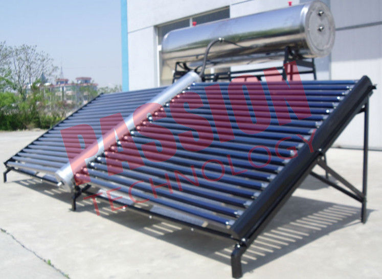 1000L Stainless Steel Solar Water Heater Evacuated Tube Collector With Feeding Tank