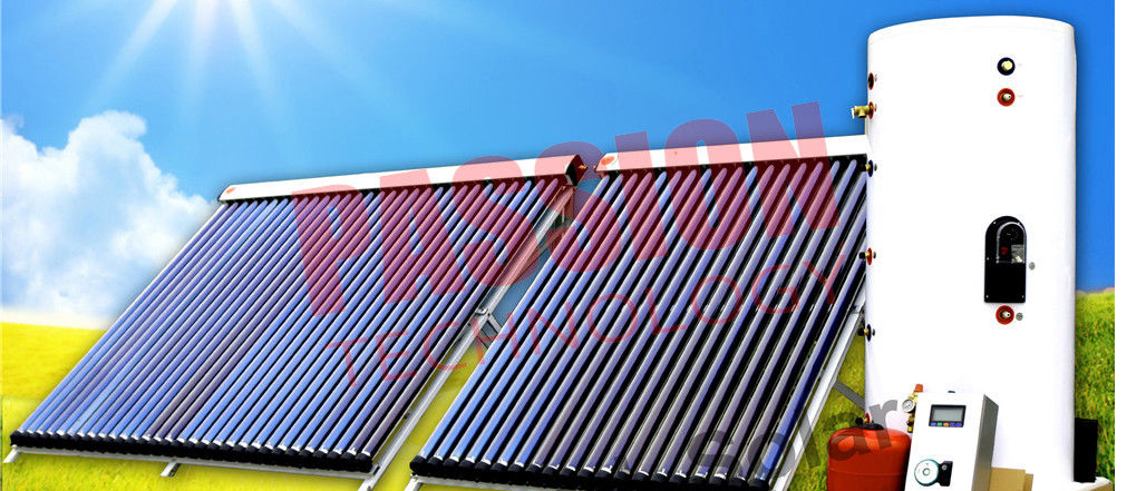 Heat Pipe Solar Water Heater Winter , Copper Coil Solar Water Heater For House