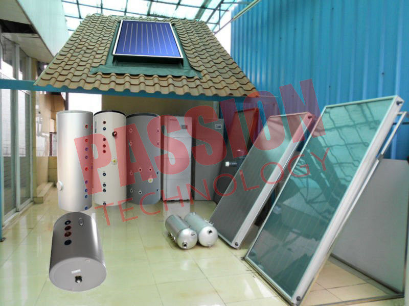 High Performance Split Solar Water Heater Flat Plate Blue Titanium Coating
