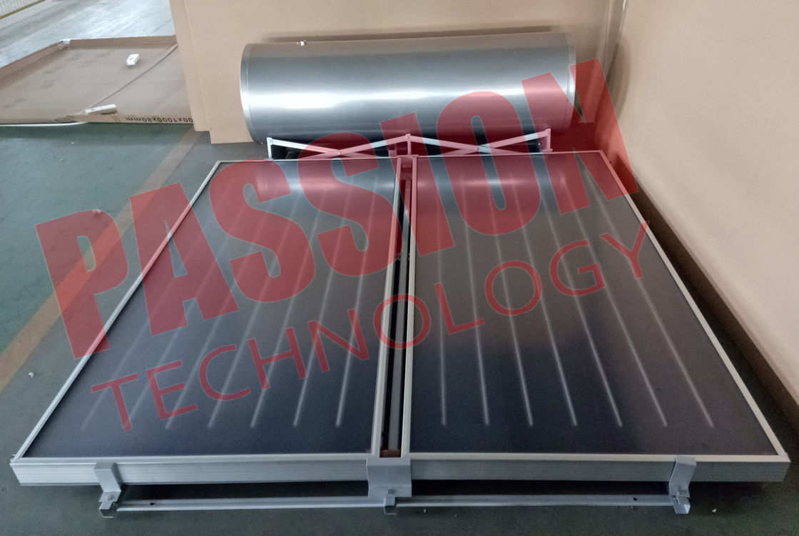 250 L High Efficient Flat Plate Solar Water Heater With Two Collector Galvanized Steel Bracket