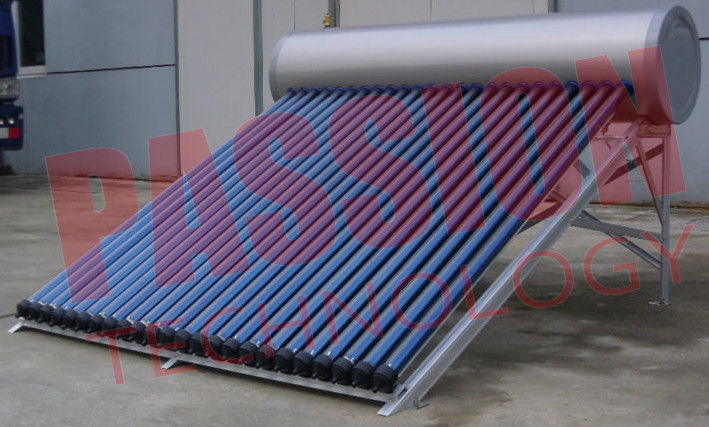 Household Heat Pipe Solar Water Heater 200 Liter High Density Insulation