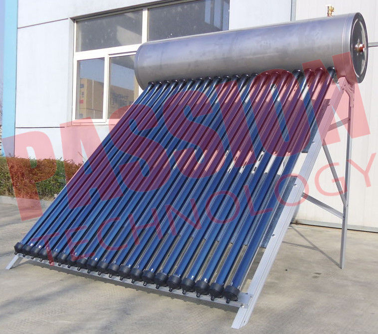 Roof Flat Solar Water Heater / Copper Pipe Solar Water Heater For Washing