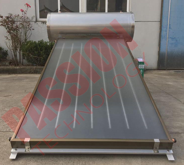 Integrated Pressurized Flat Plate Collector Rooftop Hot Water Heater Full Copper Aluminum Sheet