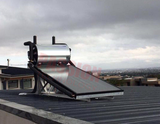 Aluminium Alloy Flat Plate Solar Collector , Home Solar Water Heating System