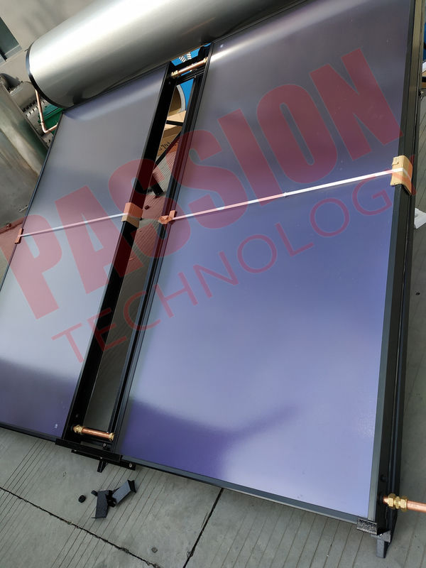 Pressure Blue Film Flat Solar Panel Hot Water System For Heating Water