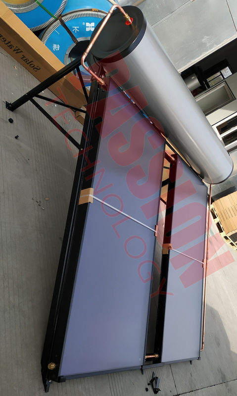 Compact Swimming Pool Solar Hot Water Heater , Flat Panel Solar Water Heater