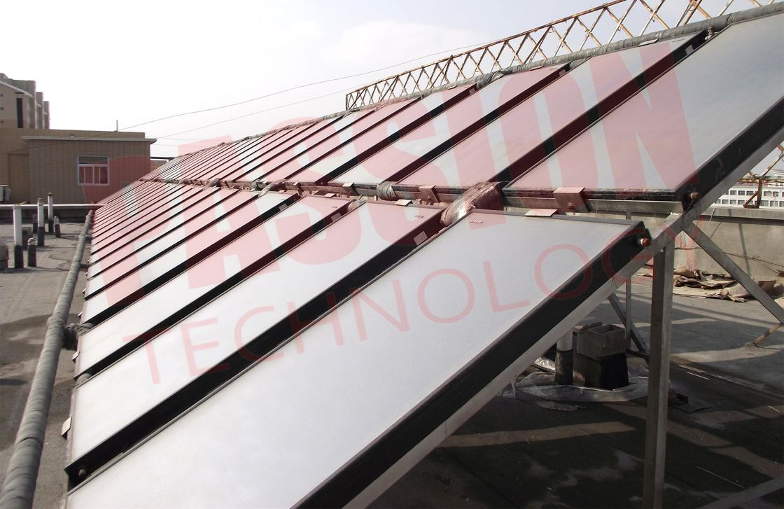 3000L Resort Solar Collector Heating Solution Blue Coating Flat Plate Solar Collector